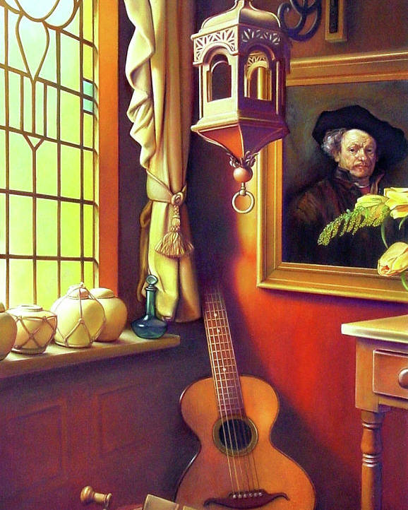 Rembrandt Poster featuring the painting Rembrandt's Hurdy-gurdy by Patrick Anthony Pierson