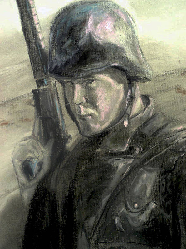 Military Poster featuring the drawing Remember by Tommy Winn