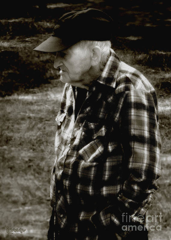 Farmer Poster featuring the photograph Remembering Hard Times by RC DeWinter