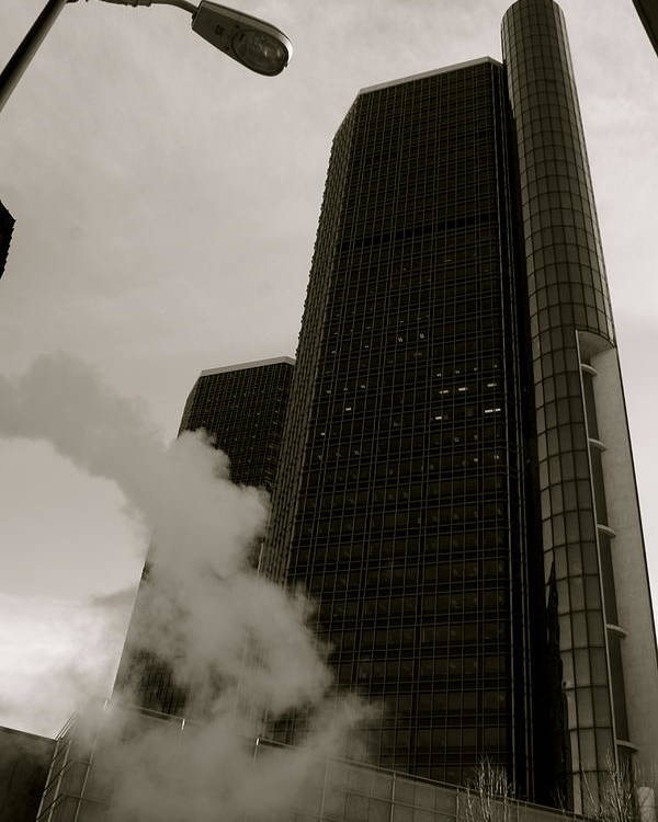 Detroit Poster featuring the photograph Renaissance Center by Sonja Anderson