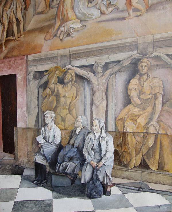 Vaticano Poster featuring the painting Reposo En El Vaticano by Tomas Castano