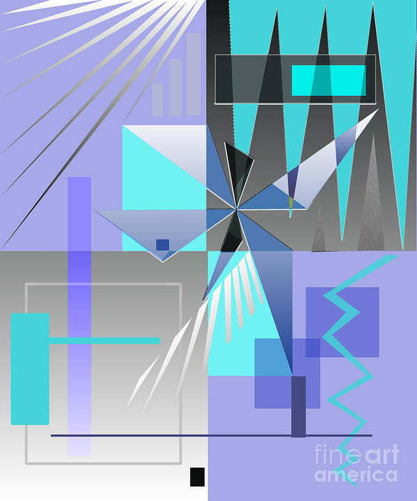 Abstract Poster featuring the digital art Restless Night - I by Jo Baby