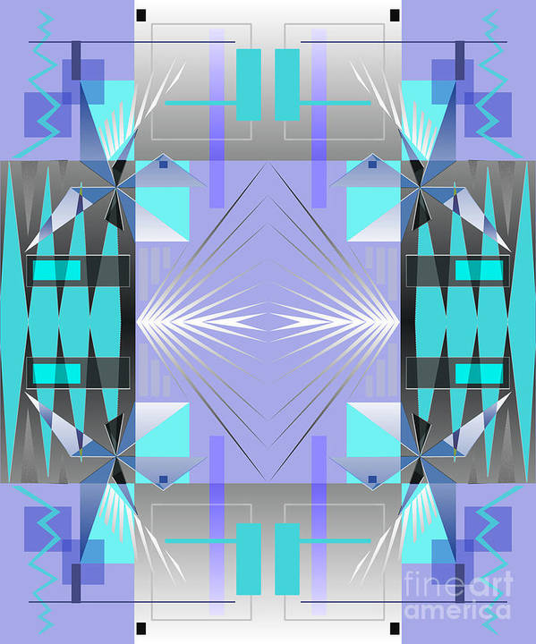 Abstract Poster featuring the digital art Restless Nights - IIi by Jo Baby