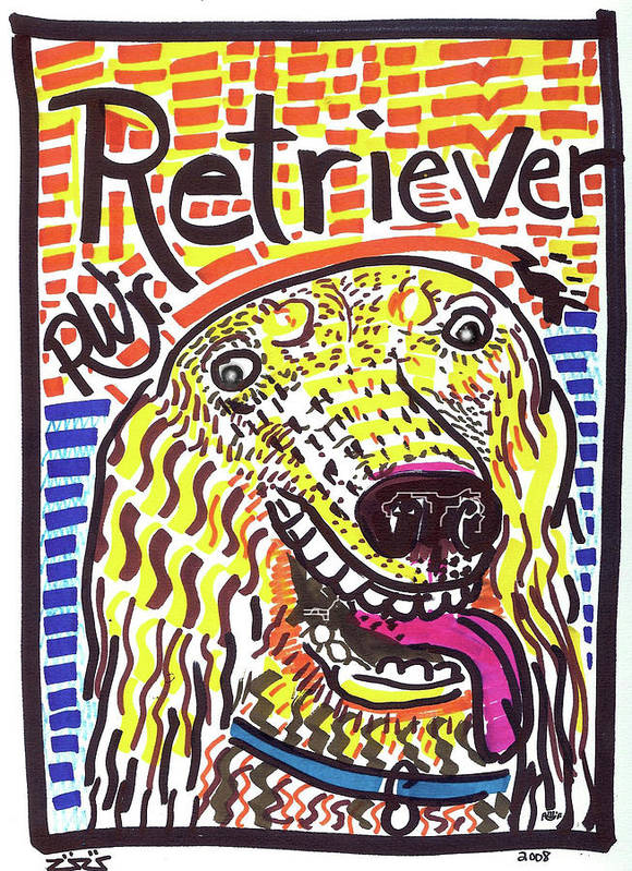 Rwjr Poster featuring the painting Retriever by Robert Wolverton Jr