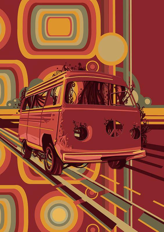 Well-liked Retro Camper Van 70s Poster by Bekim Art RF05