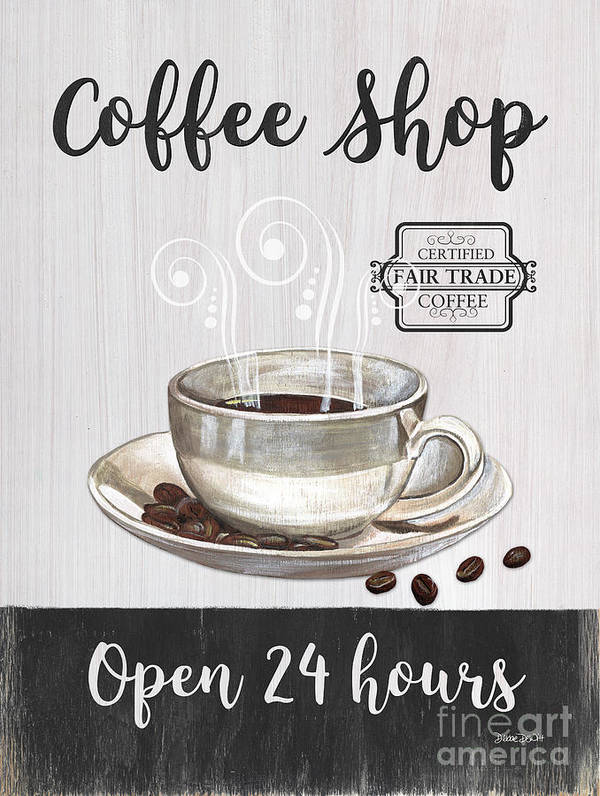 Retro Coffee Shop 1 Poster By Debbie Dewitt