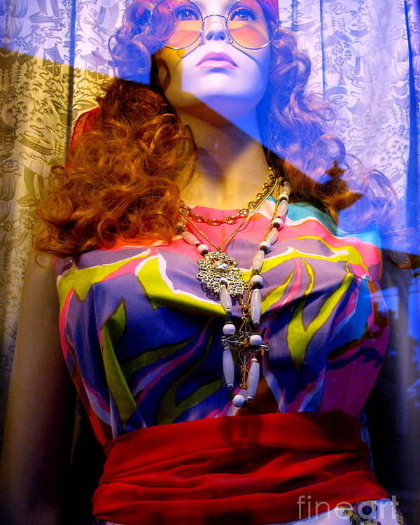 Mannequin Poster featuring the photograph Retro Fashion by Colleen Kammerer