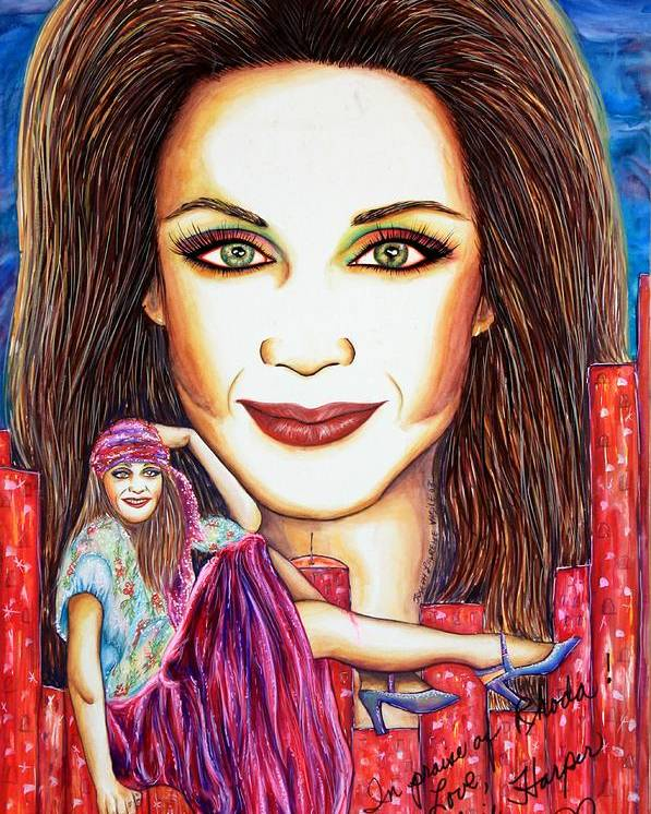 Actress Poster featuring the mixed media Rho by Joseph Lawrence Vasile