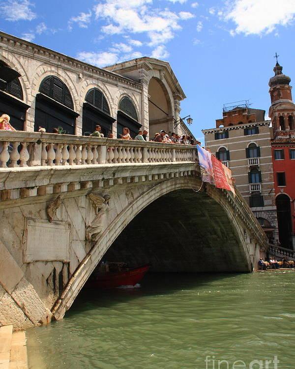 Venice Poster featuring the photograph Rialto Bridge In Venice by Michael Henderson