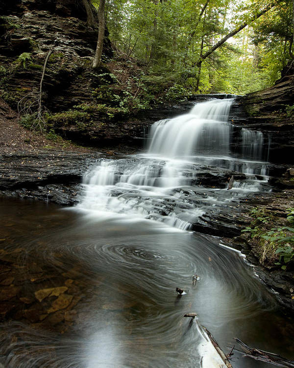 Water Falls Poster featuring the photograph Rickets Glen 4 by Christina Durity