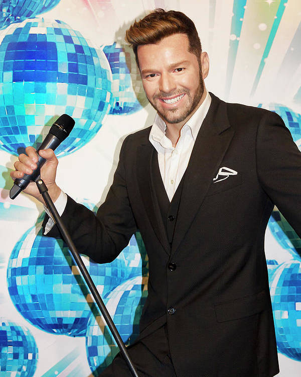 Ricky Martin Poster featuring the photograph Ricky Martin by Miroslava Jurcik