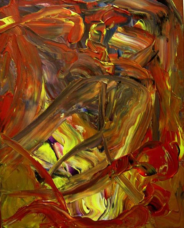 Abstract Poster featuring the painting Ripe Reverence by Karen L Christophersen