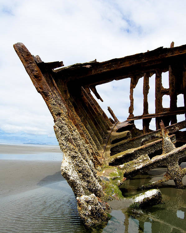 Shipwreck Poster featuring the photograph Ripple Effect by Jennifer Owen