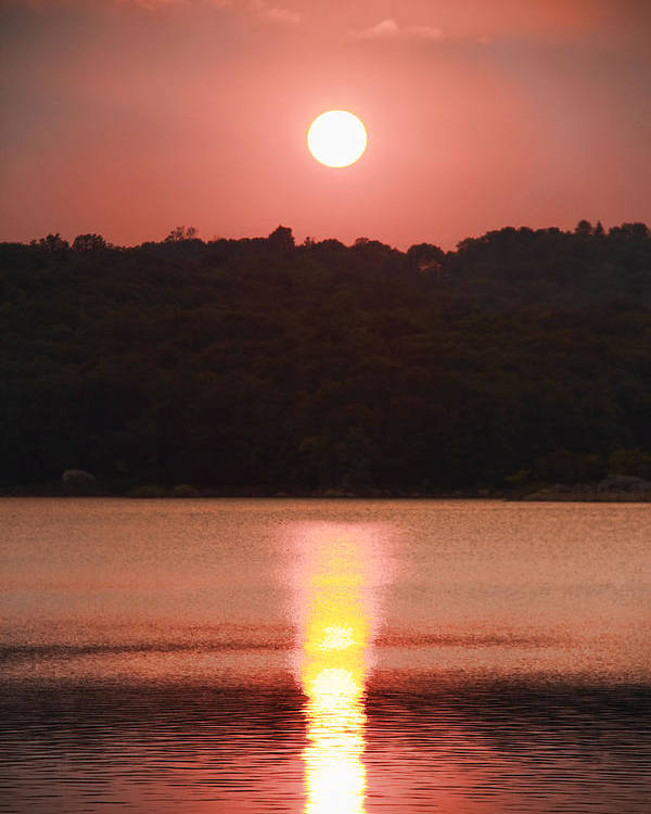 Sunset Poster featuring the photograph Ripples Of Sunset by Daphne Sampson