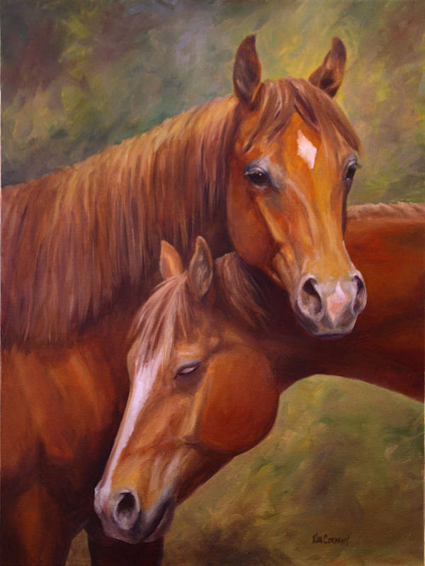 Horse Poster featuring the painting Rising Stars by Kim Corpany