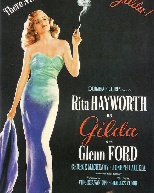Gilda Poster featuring the photograph Rita Hayworth As Gilda by Georgia Fowler