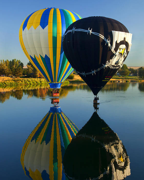Balloon Poster featuring the photograph River Dance by Mike Dawson