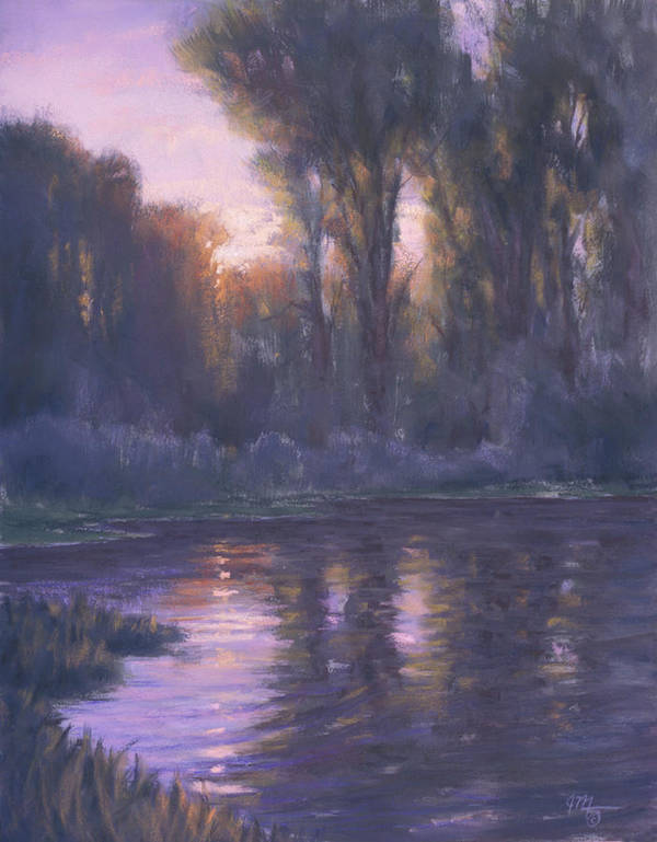 Romantic Light Poster featuring the painting River Of Light by Joe Mancuso