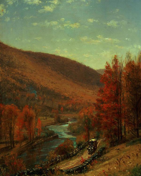 Thomas Worthington Poster featuring the painting Road Through Belvedere by Thomas Worthington