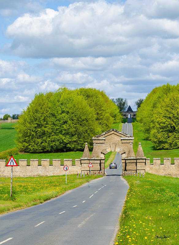 Burghley Poster featuring the photograph Road To Burghley House-vertical by Shanna Hyatt