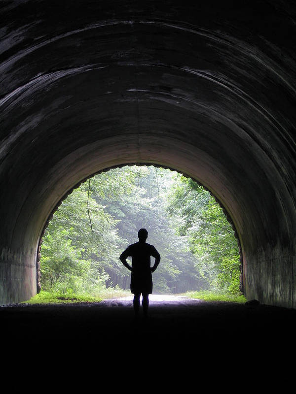 Tunnel Poster featuring the photograph Road To Nowhere by Jessica Breen