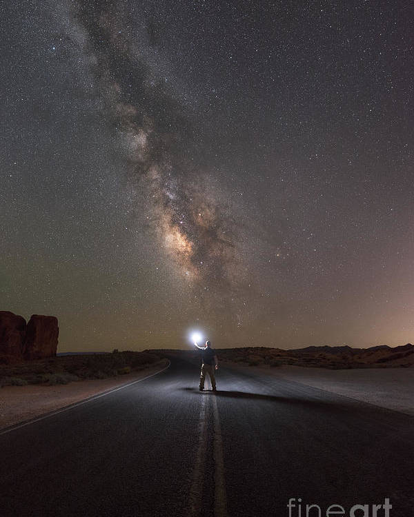 Road To The Stars Poster featuring the photograph Hitchhike To The Galaxy by Michael Ver Sprill