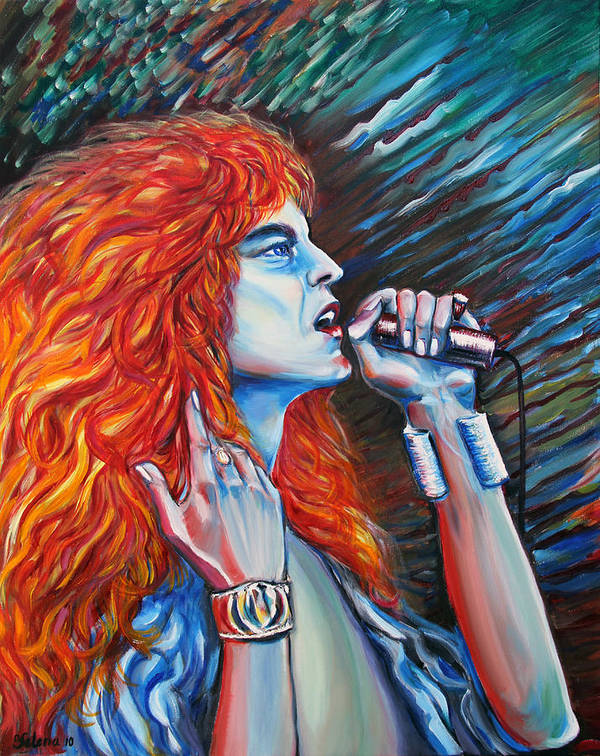 Led Zeppelin Painting Poster featuring the painting Robert Plant by Yelena Rubin