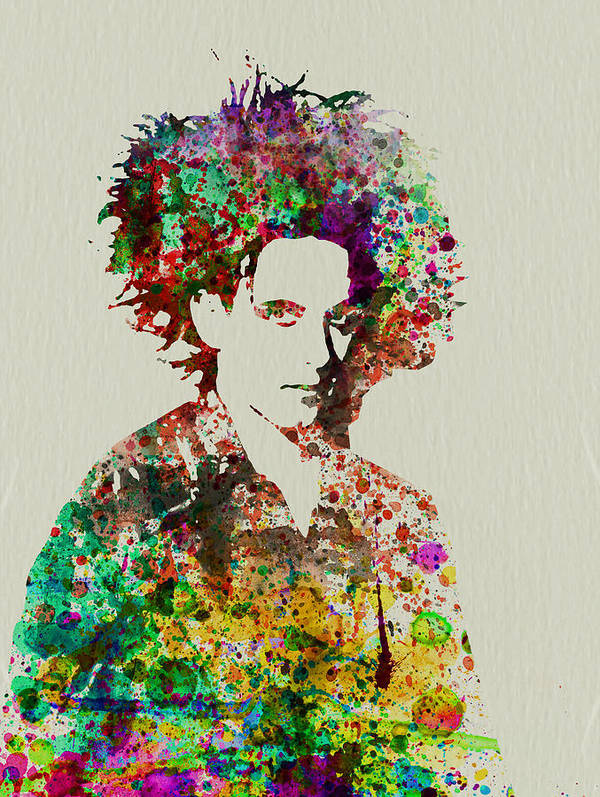 Poster featuring the painting Robert Smith Cure 2 by Naxart Studio