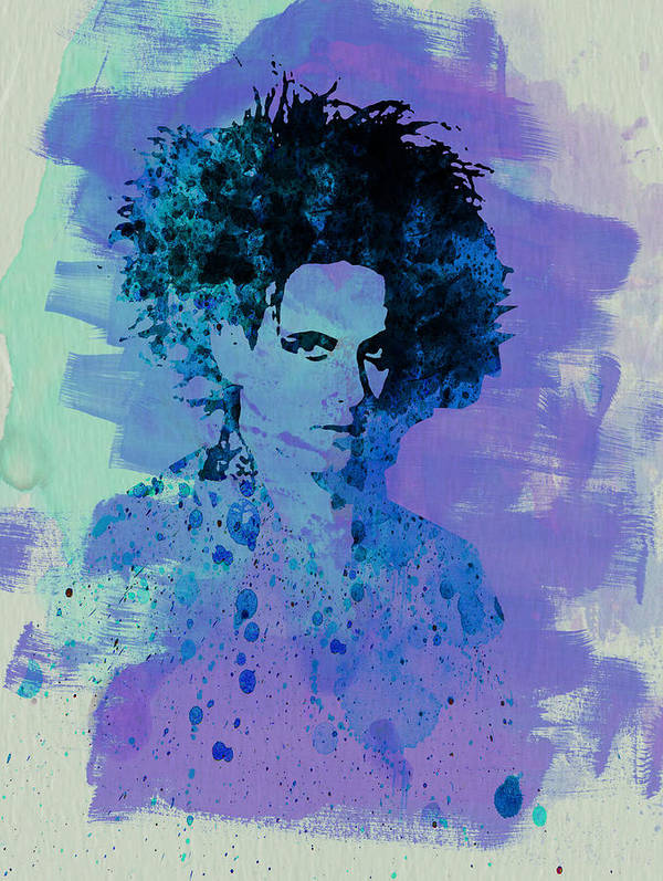 Robert Smith Poster featuring the painting Robert Smith Cure by Naxart Studio