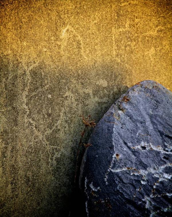 Surfacing Poster featuring the photograph Rock And A Hard Place by Odd Jeppesen