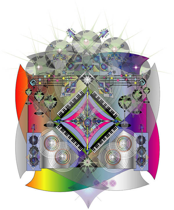 Music Poster featuring the digital art Rock Concert by George Pasini
