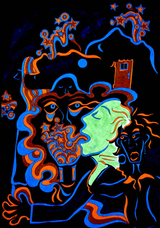 Abstract Poster featuring the print Rock Star by William Watson