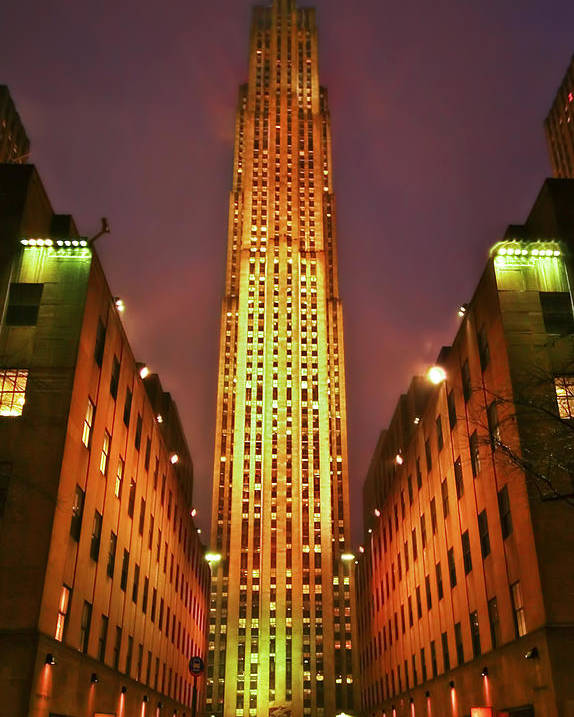Building Poster featuring the photograph Rockefeller Center by Evelina Kremsdorf
