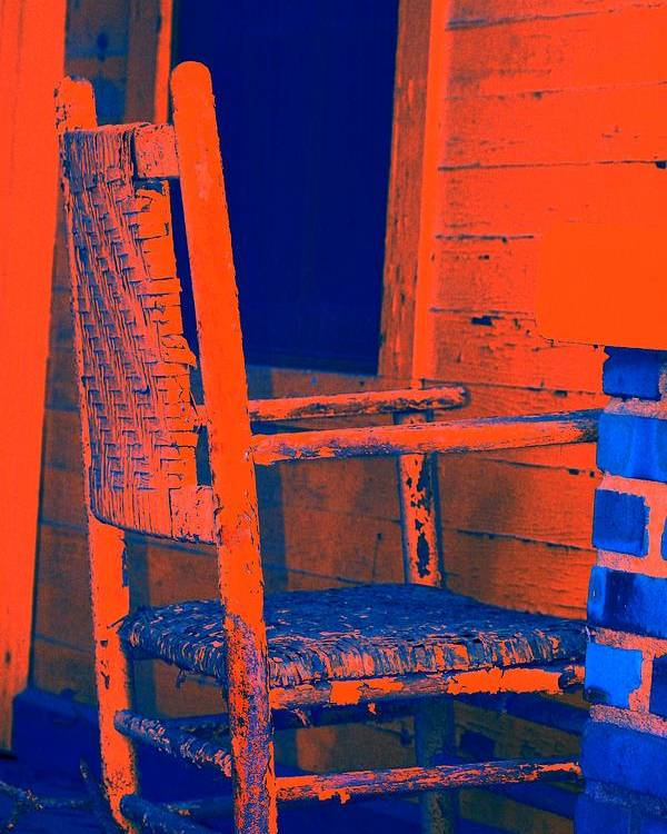 Chair Poster featuring the digital art Rocking Chair by Lisa Johnston