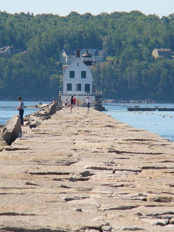 Lighthouse Poster featuring the photograph Rockland Breakwater Light by Chandra Wesson