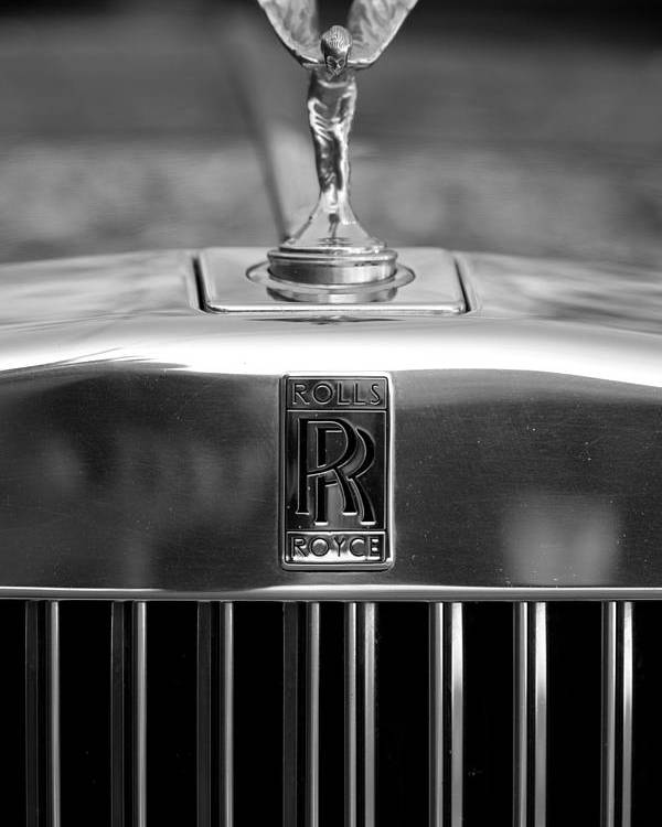 rolls royce logo poster by brooke roby. Black Bedroom Furniture Sets. Home Design Ideas