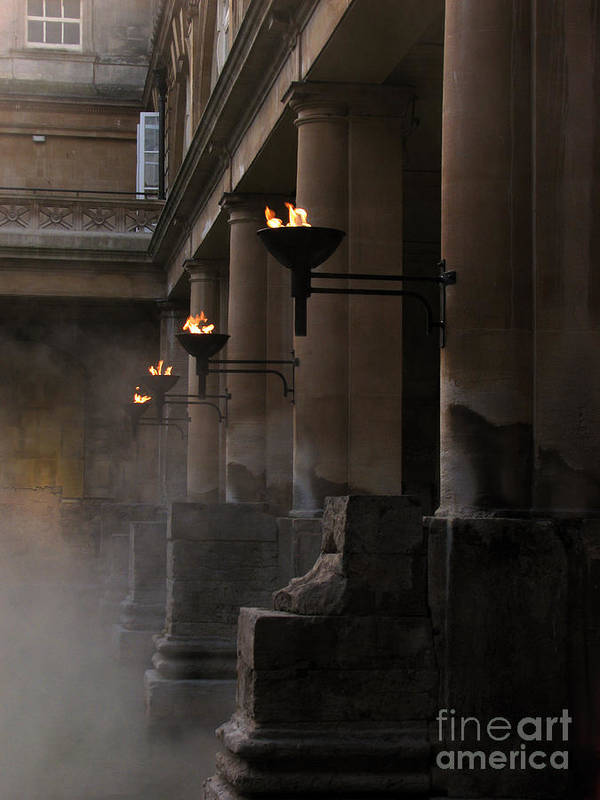 Bath Poster featuring the photograph Roman Baths by Amanda Barcon