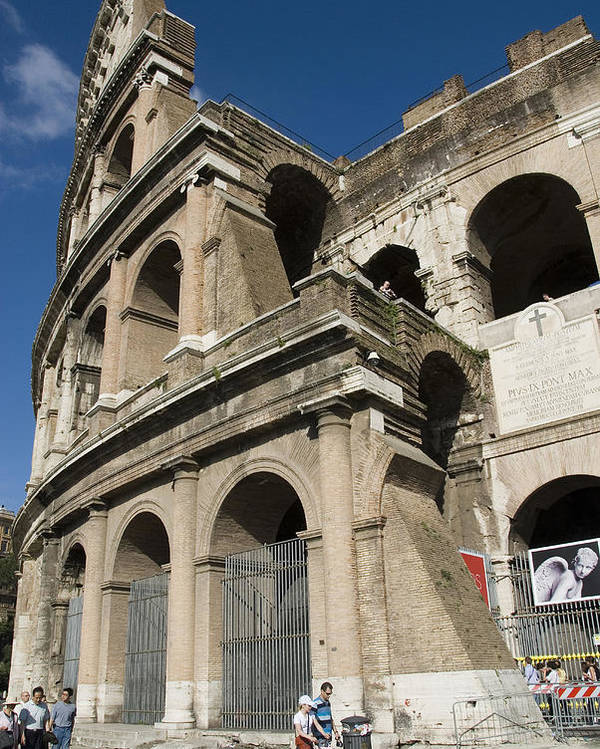 Coliseum Poster featuring the photograph Roman Coliseum by Charles Ridgway