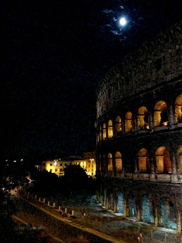 Rome Poster featuring the photograph Roman Colosseum by Stephen Settles