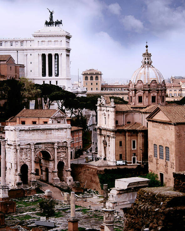 Rome Poster featuring the photograph Roman Forum by Warren Home Decor
