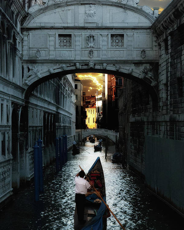 Venice Poster featuring the photograph Romantic Venice by Harry Spitz