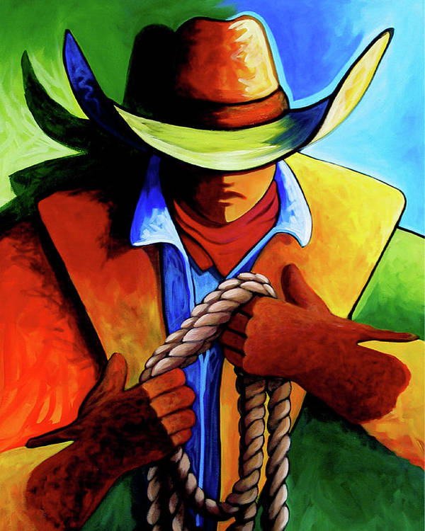 Contemporary Poster featuring the painting Roper by Lance Headlee