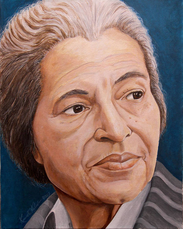Painting Poster featuring the painting Rosa Park by Kenneth Kelsoe