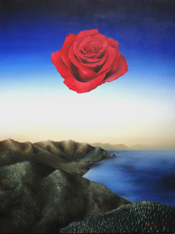 Rose Poster featuring the painting Rosamund by Massimiliano Stanco