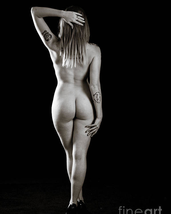 Rosie Poster featuring the photograph Rosie Nude Fine Art Print In Sensual Sexy 4602.01 by Kendree Miller
