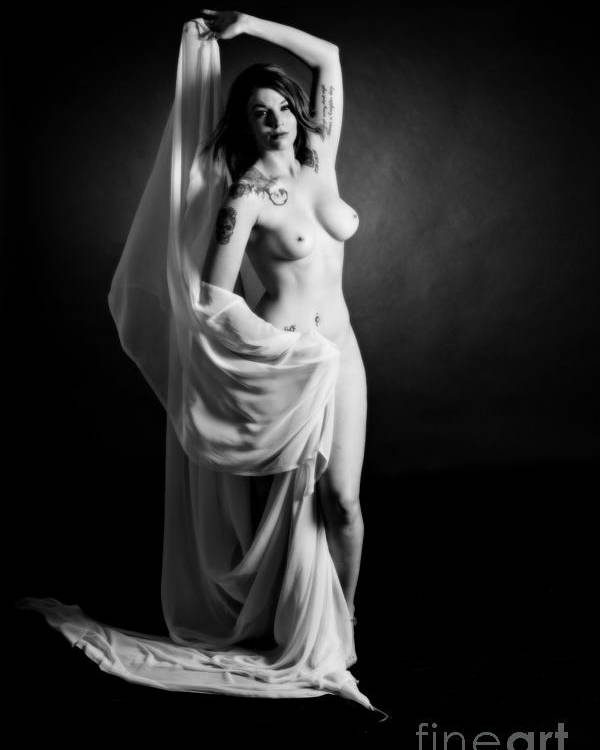 Rosie Poster featuring the photograph Rosie Nude Fine Art Print In Sensual Sexy 4609.01 by Kendree Miller