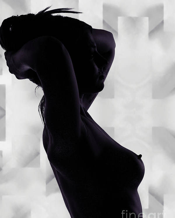 Rosie Poster featuring the photograph Rosie Nude Fine Art Print In Sensual Sexy 4646.01 by Kendree Miller