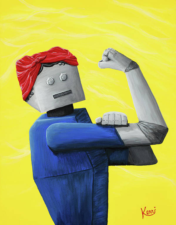 Rosie The Riveter Poster featuring the painting Rosie- Tempered And Timeless by Kerri Ertman