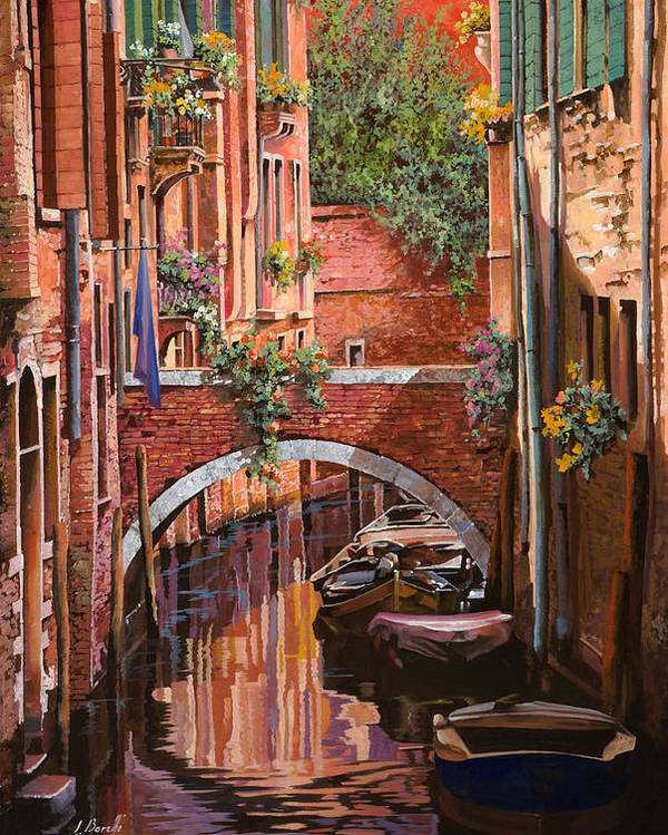 Venice Poster featuring the painting Rosso Veneziano by Guido Borelli