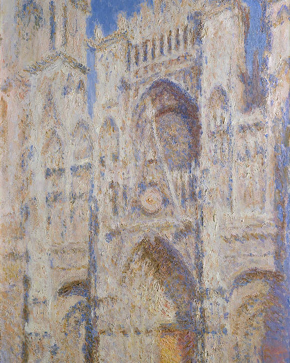 Architectural Poster featuring the painting Rouen Cathedral, The Portal, Sunlight by Claude Monet